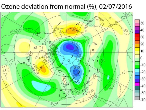 Augmentation du trou dans la couche d ozone arctique the ozone hole in the arctic is growing - Trou dans la couche d ozone ...