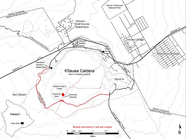 Kilauea trails